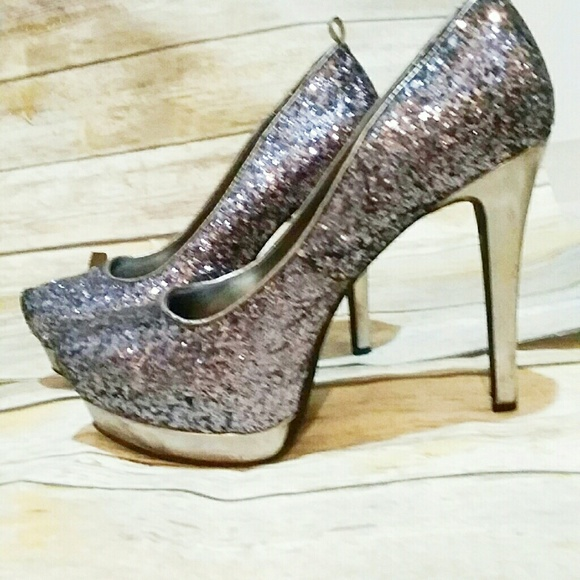 40f388346ad7 Mossimo Supply Co. Shoes | Super Sparkly Glitter Heels Sequined So ...